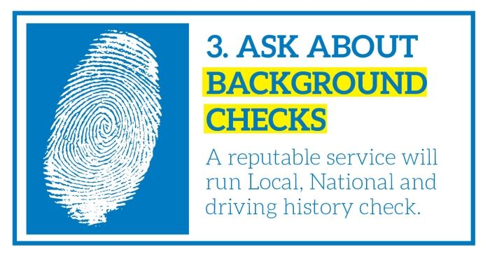 Ask About Background Checks